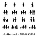 family icon vector set | Shutterstock .eps vector #1044753094