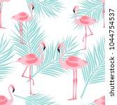 Seamless Pattern Flamingo...