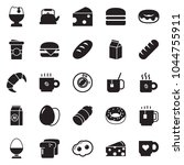 solid black vector icon set  ... | Shutterstock .eps vector #1044755911
