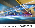 traffic trails on elevated... | Shutterstock . vector #1044756529