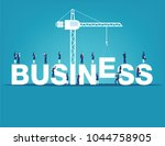 business finance and industry.... | Shutterstock .eps vector #1044758905