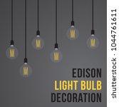 edison light bulb decoration in ...   Shutterstock .eps vector #1044761611