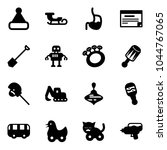 solid vector icon set  ... | Shutterstock .eps vector #1044767065