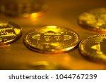 bitcoin cryptocurrency digital... | Shutterstock . vector #1044767239
