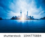 china shanghai  skyline blue... | Shutterstock . vector #1044770884