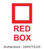 red box  vector | Shutterstock .eps vector #1044772135
