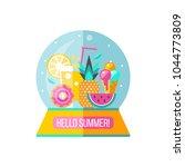 hello summer. vector... | Shutterstock .eps vector #1044773809