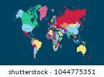 world map vector. | Shutterstock .eps vector #1044775351