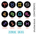 signs of the zodiac  aries... | Shutterstock .eps vector #1044780451