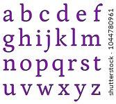 glowing shiny purple glass... | Shutterstock . vector #1044780961