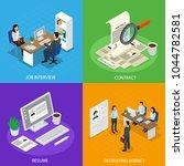 employment concept isometric... | Shutterstock .eps vector #1044782581