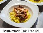 italian pasta dish | Shutterstock . vector #1044786421