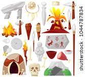 stone age vector primeval... | Shutterstock .eps vector #1044787834