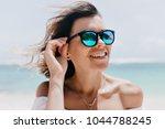 close up portrait of attractive ...   Shutterstock . vector #1044788245