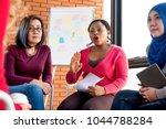 multiethnic women in colorful...   Shutterstock . vector #1044788284
