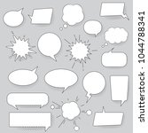 speech bubbles set isolated on... | Shutterstock .eps vector #1044788341