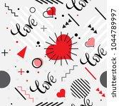 trendy seamless  memphis style... | Shutterstock .eps vector #1044789997