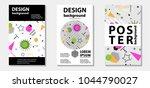 trendy memphis style template... | Shutterstock .eps vector #1044790027