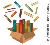 vector illustration of books in ... | Shutterstock .eps vector #1044792889