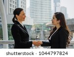 nice to meet you. deal. two... | Shutterstock . vector #1044797824