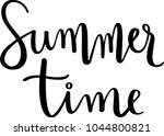 summer time  hand drawn... | Shutterstock .eps vector #1044800821