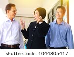 asian middle aged business team ... | Shutterstock . vector #1044805417