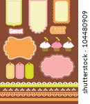 cute scrapbook elements... | Shutterstock .eps vector #104480909
