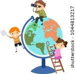 illustration of stickman kids... | Shutterstock .eps vector #1044813217
