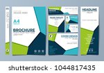 blue corporate identity set... | Shutterstock .eps vector #1044817435