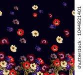 floral horizontal border.... | Shutterstock . vector #1044821401