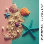 close up of seashells and... | Shutterstock . vector #1044821734