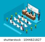 isometric business conference... | Shutterstock .eps vector #1044821827