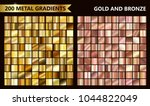 big golden and rose metal pack. ... | Shutterstock .eps vector #1044822049