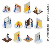 isometric home repair set with... | Shutterstock .eps vector #1044822367