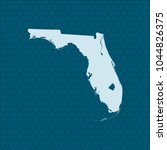 map of florida | Shutterstock .eps vector #1044826375