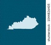 map of kentucky | Shutterstock .eps vector #1044826405