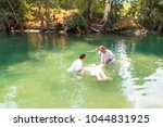 tiberiades  jordan river ... | Shutterstock . vector #1044831925