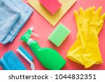 colorful cleaning set for... | Shutterstock . vector #1044832351