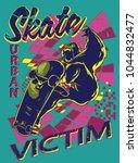 urban skate victim | Shutterstock .eps vector #1044832477
