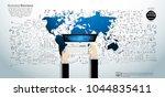 businessman hand and computer  ... | Shutterstock .eps vector #1044835411
