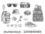travel set. hand drawn...   Shutterstock .eps vector #1044840484