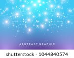 geometric abstract vector with... | Shutterstock .eps vector #1044840574