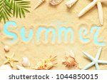 sea shells with sand as... | Shutterstock . vector #1044850015
