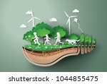 concept of ecology  and... | Shutterstock .eps vector #1044855475