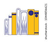 pile books library icon | Shutterstock .eps vector #1044856621