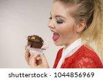 sweet food sugar make us happy. ... | Shutterstock . vector #1044856969