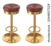 bar stool  leather metal. 3d... | Shutterstock . vector #1044857329