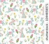 easter concept seamless pattern....   Shutterstock .eps vector #1044858571