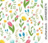 easter concept seamless pattern....   Shutterstock .eps vector #1044858574