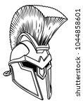 a warriors ancient greek...   Shutterstock .eps vector #1044858601